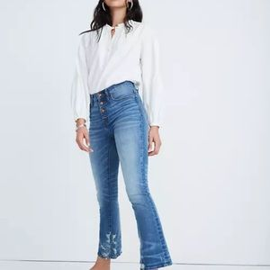 Madewell Petite Cali Demi-Boot Button Front Jeans